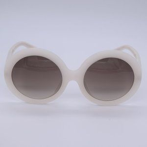 CELINE Retro Style Round White Sunglasses NWT
